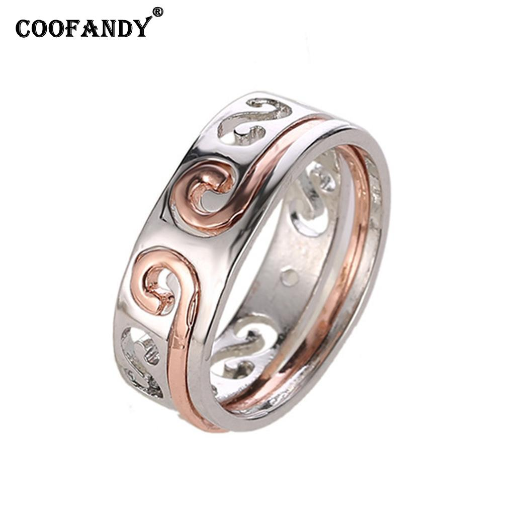 Fashion Hollow Lovers Couples Wedding Ring Wedding Jewelry Daily Life, Party, Anniversary, Prom, etc Gift(China)