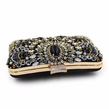 NATASSIE Women Clutch Ladies Diamond Day Clutches Purses Female Beaded Bag With Chain