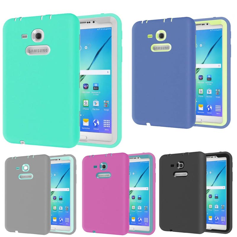 New! High-quality Tablet shockproof case cover For Samsung Galaxy Tab 3 7.0 Lite SM-T110 T111 T113 child fashion Back cover lovemei shockproof gorilla glass metal case for galaxy note4 n9100