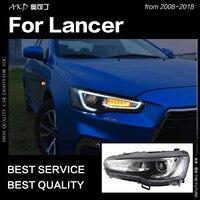 AKD автомобильный Стайлинг для Mitsubishi Lancer 2008 2018 Lancer EX светодиодный светодиодные дневные ходовые огни на передних фарах Hid вариант фара ангел г