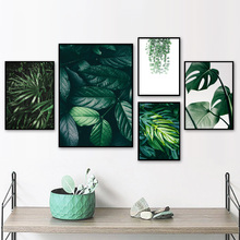 Tropical Plant Monstera Leaves Wall Art Canvas Painting Nordic Posters And Prints Landscape Pictures For Living Room Decor