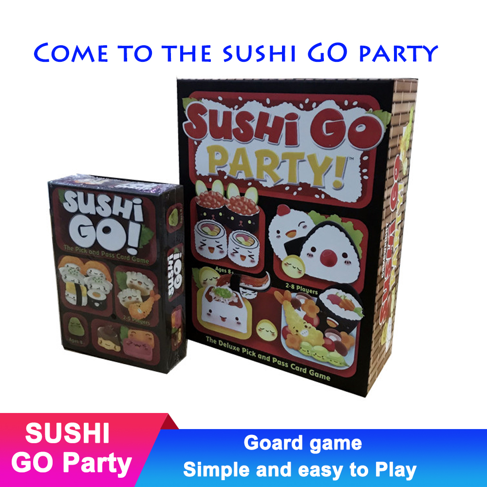 Children Puzzle Parent Child Toys Sushi Go Party Sushi Dog Board Games Fun Group Card Game Family Kid Gift