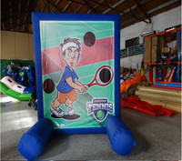 Inflatable fun sports game for kids outdoor or indoor playground Inflatabel tennis Goals sports