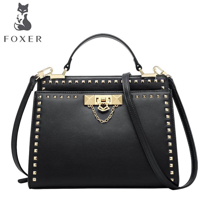 FOXER 2018 New Women leather bag designer famous brand leather women Cowhide bag fashion tote women leather shoulder bag сумка brand new women bag