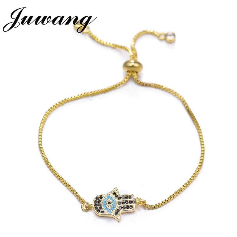 JUWANG-Bracelet en fil rouge tressé à la main, mal œil turc, porte-bonheur, Hamsa, bijoux, cadeau 2