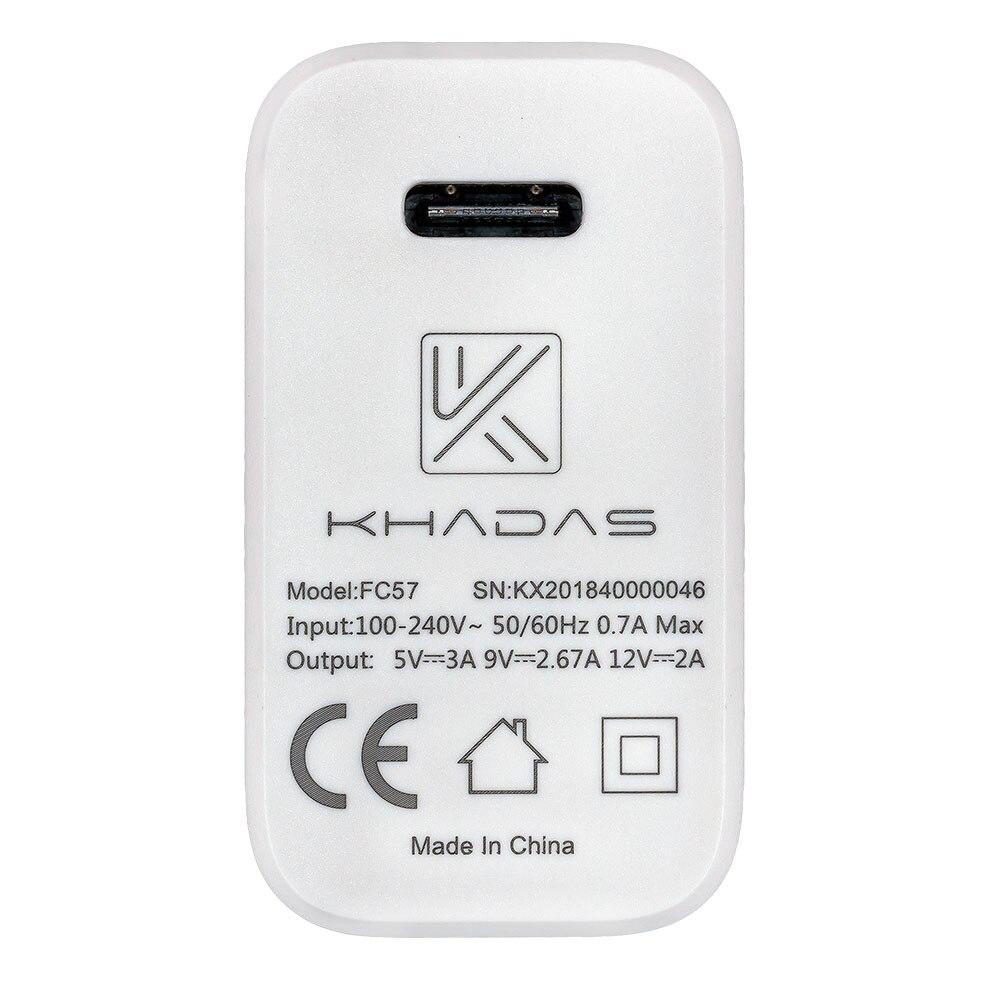 Khadas USB-C 24W Adapter With