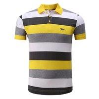 Hoge Kwaliteit Katoen Mannen Sportwear Polo Shirt Golf Kleding Sport Leisure Strepen T-shirt Turn-down Kraag Ademend Kleding