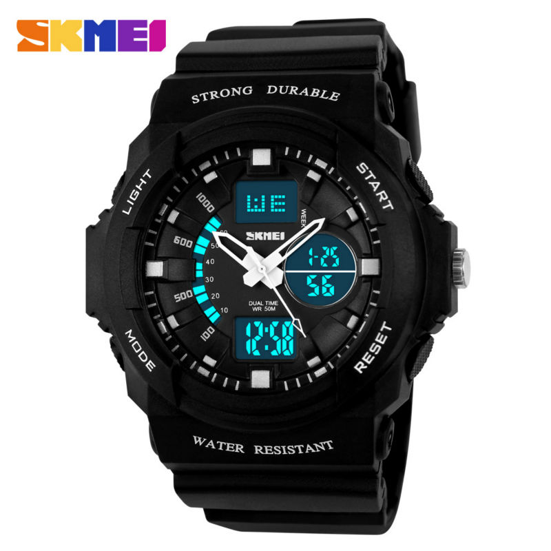 SKMEI Shock Resistant Sport Watch Men Watches Waterproof Women Kids - Men's Watches