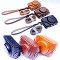 NEW Leather Case Camera Case Bag Cover for Sony RX100 V M5 Camera Wrist Shoulder strap