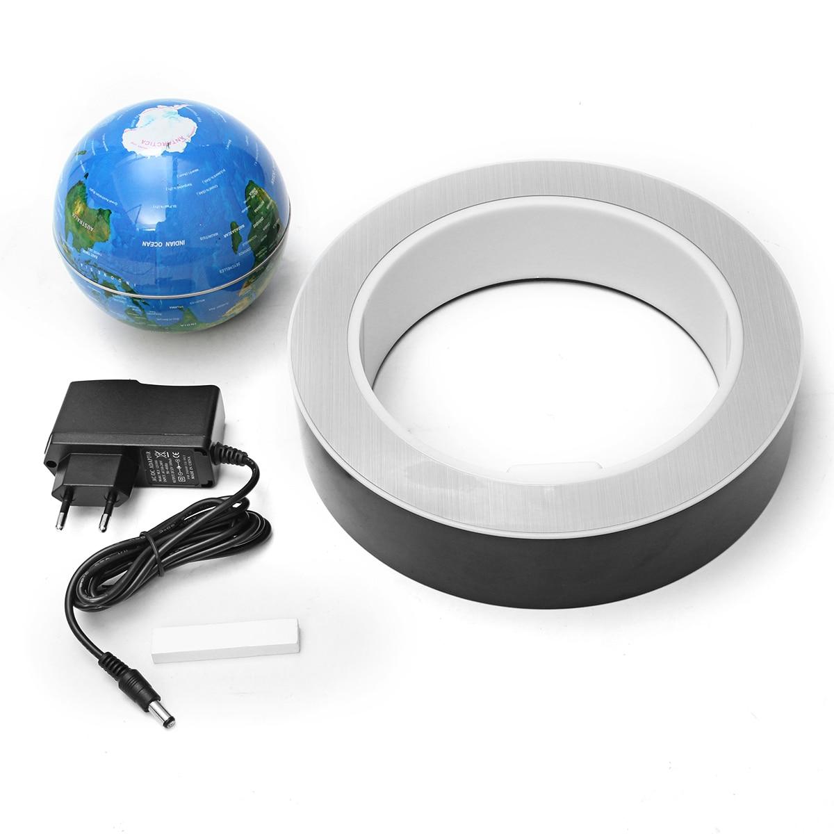 MIRUI 4 pouces lévitation magnétique Globe flottant carte du monde LED lumières lampe enfants cadeau enfants géographie jouets éducatifs école