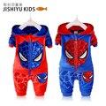 Del otoño del resorte marca de ropa chicos establece Spider Man de bebé de los cabritos de la ropa pantalones infantiles de la capa 2 unids la ropa los niños