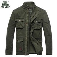 2017 AFS JEEP Male Jacket Men Jackets Coat Windbreaker Jacket Fashion Trench Coat Stand Collar Casual