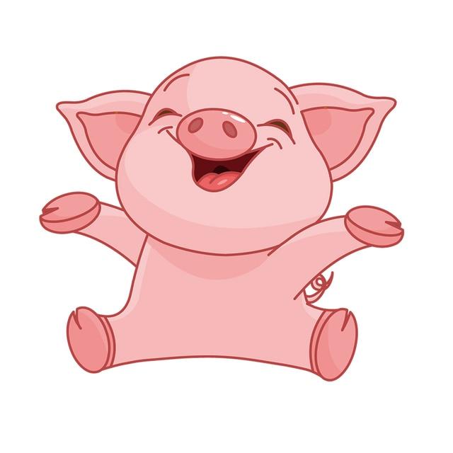 Rylybons Car Sticker Funny Piggy Pig Cartoon 22 19cm Vinyl