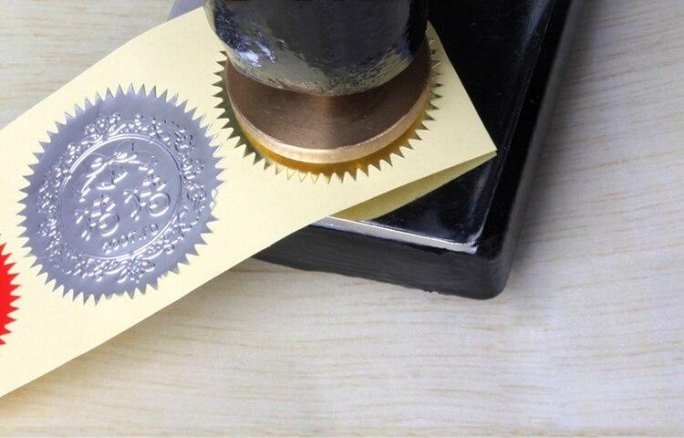 Купить с кэшбэком 45MM diameter Seal sticker stamp label CSilver anti-counterfeiting laser seal sticker