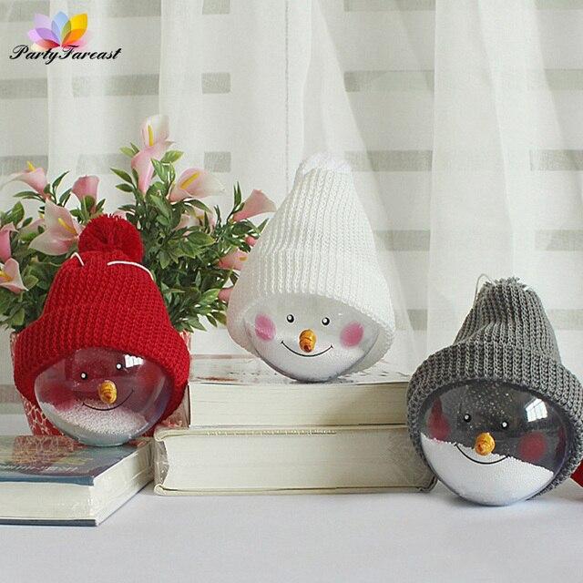 PF de Navidad Bolas De Nieve Blanco Rojo Gris De Plástico Colgando ...