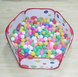 Do zabawy w basenie kojec dla dzieci łatwa i tania piłka oceaniczna basen gra maluch basen z piłkami w paczce i grać 1m 1.2m 1.5m 3 rozmiary w Kojce dla dzieci od Matka i dzieci na