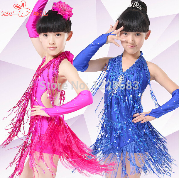 New Arrival Sequin Fringe Halteres Ballroom Rumba Dance Dresses Latin Rumba Vestidos Rumba Dance Costume