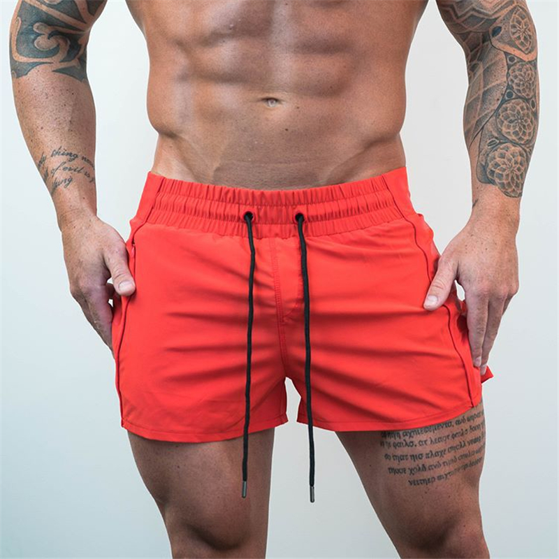2019 Men Fitness Bodybuilding Shorts Man Casual Gyms Workout Male Breathable Mesh Quick Dry Sportswear Jogger Beach Short Pants