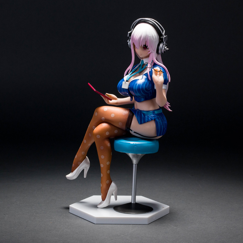 ФОТО 22cm Japanese Anime Super Sonic the Animation SUPERSONICO PVC Action Figure Doll Sexy Girl Collectible Model Toy Brinquedos