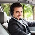 Camionero Sobre la Cabeza Sin Hilos de Bluetooth Auricular Auriculares Auriculares Con Micrófono Boom Flexible con Tecnología de Cancelación de Ruido