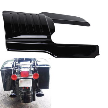 Glossy Black 7 Motorcycle Rear Fender Extension Stretched Bag Fillers for Touring Models 1996 1997 1998-2008