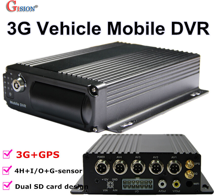 Free DHL GS 8303G 3G GPS Mobile DVR H 264 4CH Real time GPS Track I