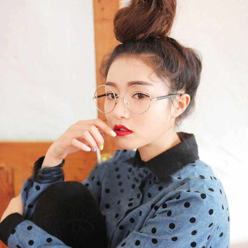 2016 Eyeglasses Frames Women Fashion Glasses With Clear Lenses Round Frame  Glasses Optical Clear Eyewear Vintage 799dfd88e3