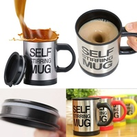 2017 Selft Mixing Cup Coffee Tea Milk Cups Button Pressing Lazy Self Stirring Mug Coffee Cup