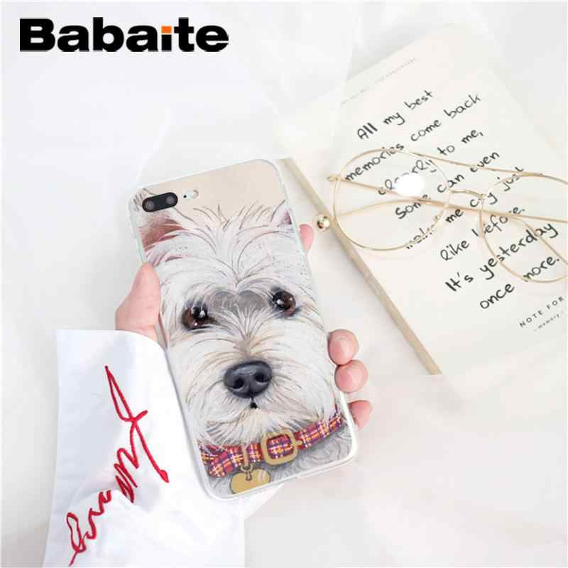 Babaite Cartoon Westie Dog Customer High Quality Phone Case For Iphone X Xs Max 6 6s 7 7plus 8 8plus 5 5s Xr 10 Case