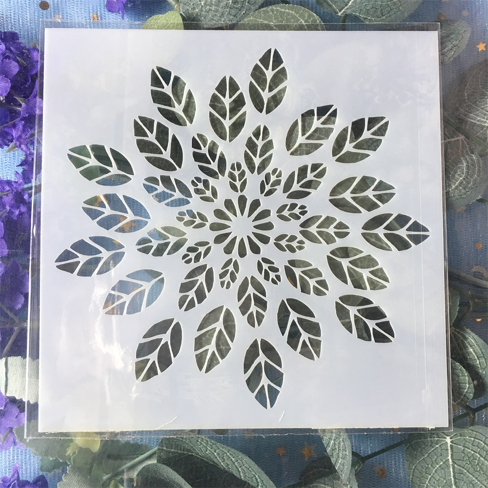 New 13cm Leaves DIY Craft Layering Stencils Wall Painting Scrapbooking Stamping Embossing Album Card Template