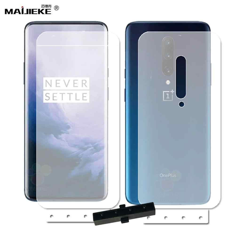 2PCS Front Back Full Cover Protective Film for Oneplus 7 7 Pro Hydrogel Screen Protector 1+ Pro Soft TPU  Guard Film Not Glass