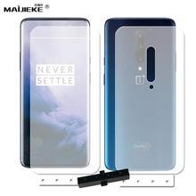 2 x frente para trás capa completa película protetora para oneplus 7 pro 6 6t 5t protetor de tela de hidrogel 1 + macio tpu guarda filme não vidro