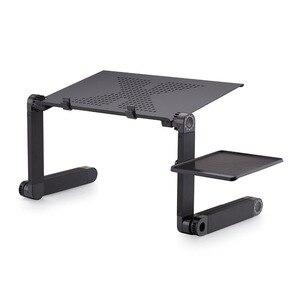Image 2 - Draagbare opvouwbare verstelbare klaptafel voor Laptop Bureau Computer mesa para notebook Stand Tray Voor