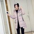 2016 Winter Long Coat Women Irregular Topcoat Tassel Pocket Overcoat Hooded Outerwear Thick Stand Collar Down Parkas  LZ010