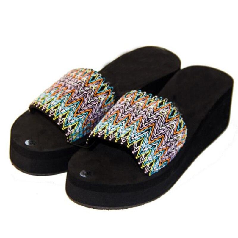 3d6b15e82703a9 Bagus Baru Musim Panas Gabus Sandal Pantai Flip Flop Sandal Wanita Slides  Platform Wedges Kasual Sepatu Flat Plus Ukuran 25 61 P2e11 di Wanita Sandal  dari ...