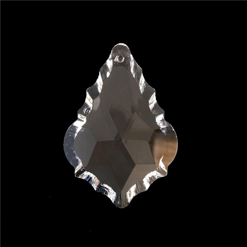 200Pcs lot 63MM Crystal Maple Leaf Prism Parts Pendant for Chandelier Hanging Pendants