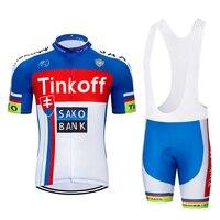 2019 TEAM tinkoff Cycling Clothing Bike jersey Ropa Ciclismo Mens Bicycle summer shirts pro Cycling Jerseys 9D pad bike shorts