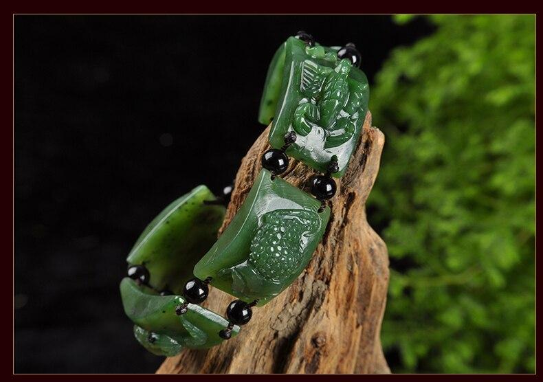 Bracelet extensible hétien naturel avec cinq perles de Poisons sculptées à la main amulette crapaud araignée Wudu scorpion centipede serpent yu bracele