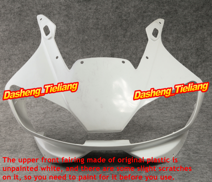 ABS Upper Front Fairing Cowl Nose Fits for Yamaha YZF R6 1998 1999 2000 2001 2002, Motorcycle Spare Parts Accessories fit for yamaha yzf 600 r6 1998 1999 2000 2001 2002 yzf600r abs plastic motorcycle fairing kit bodywork yzfr6 98 02 yzf 600r cb20