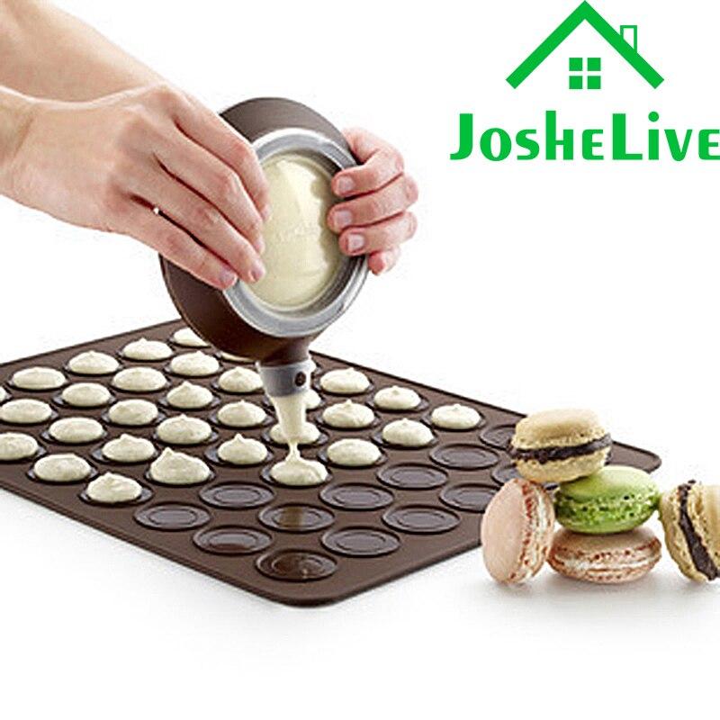 Kitchen accessories Silicone Baking Mold Macaron Mat DIY Baking 30-Cavity Mats Cake Pastry Oven Mold Sheet Bakeware Tools