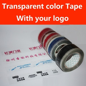 Image 3 - 10Pcs x 100meters Customized Logo Tape Roll Transparent Packaging Tape 45/50/60mm Width Red Blue Black Green Logo Clear Tape