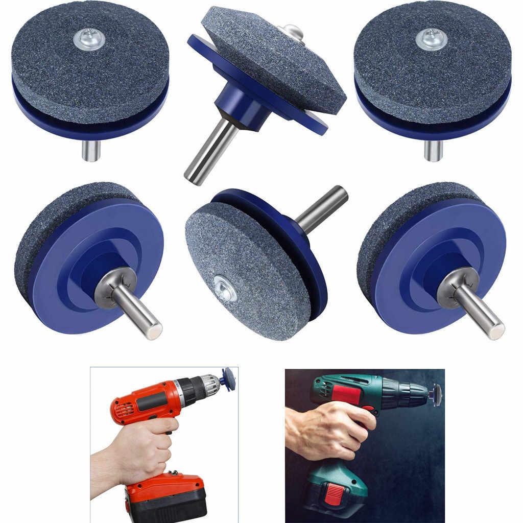 1Pc/2PC/3PC/4PC/5PC/6PC Lawn Mower Sharpener Lawnmower Sharpener for Power Hand Drill Knife Sharpening Stone Grindstone Hot Sale