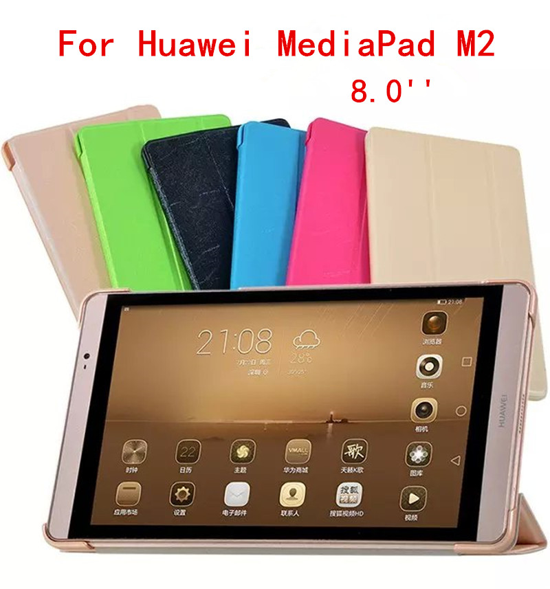 For mediaPad M2 Ultra thin Smart pu leather Case cover For Huawei MediaPad M2 M2-801W M2-803L Huawei M2 8.0 inch tablet case sldpj stylish ultra thin protective pu leather case cover w visual window for iphone 4 4s red