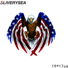 цена на SLIVERYSEA Car Door Sticker American Eagle Body Personality Creative Hood cover Car Stickers Car Cover Scratches Decorative