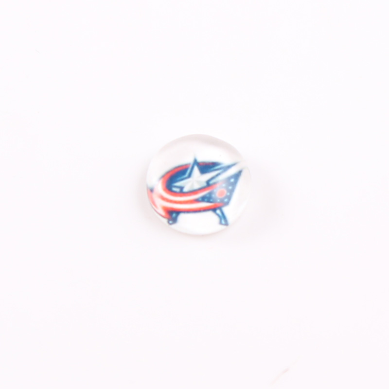 Columbus Blue Jackets 22mm Stainless Steel Floating Locket Plate NHL Floating Charms Fit 30mm Living Glass Lockets 20pcs/lot
