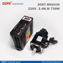 цена на NEW 750W ac servo motor 0.75KW  AC SERVO MOTOR & DRIVER 3000RPM  2.39N.M 80ST 80ST-M02430( 0.75KW )  Matched Servo Driver