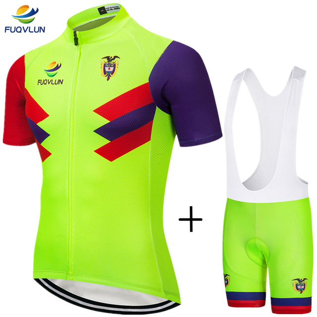 FUQVLUN 2018 Cycling Clothing / 100% Polyester MTB Bicycle Sportswear / Colombia Cycling Jerseys Rock Racing Bike Jersey Set