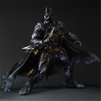Play Arts Kai DC Comics Super Hero Variant Play Arts Kai Batman Armored 26cm Square Enix Action Figure Statue Toys