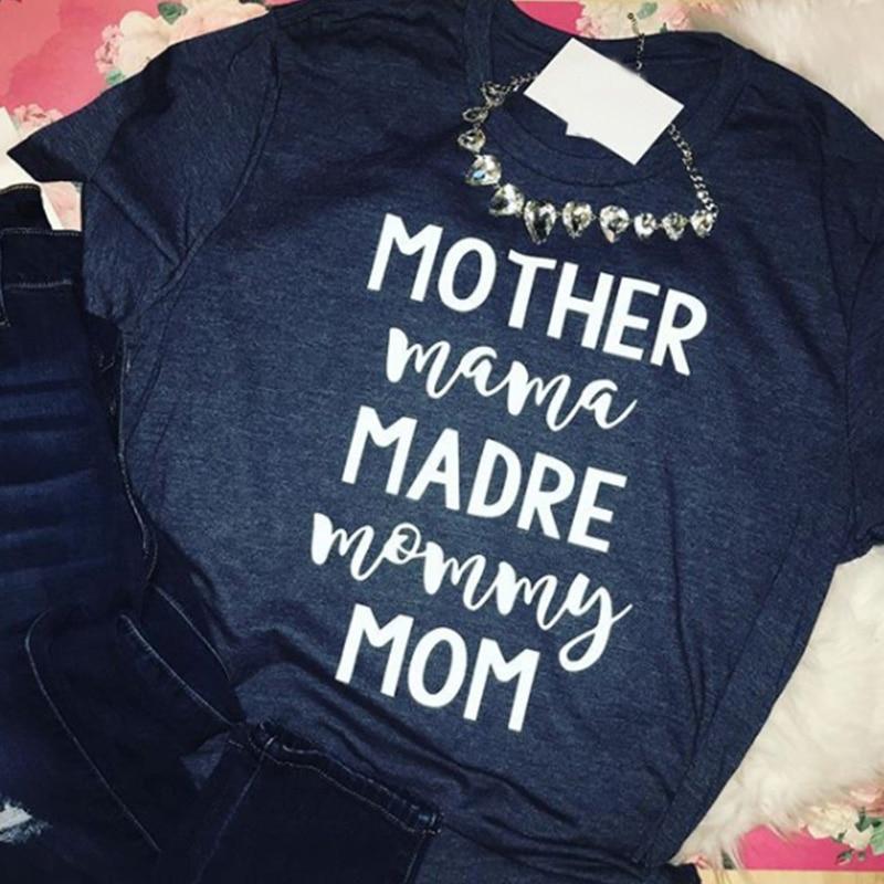 2019 tired as a mother women t-shirts mama tops fashion tee blessed mom thankful shirt kinda top womens fashion tshirt