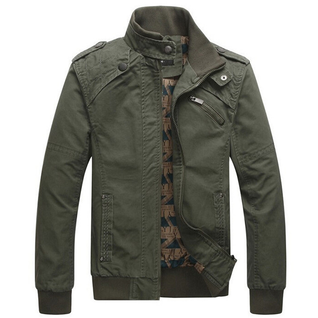Hot Jacket men Casual Winter Jacket Cotton Stand Collar Coats Army Military men's Male clothes overcoat jaqueta masculina